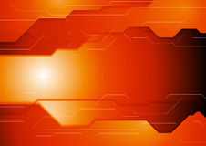 Dark orange hi-tech corporate background Stock Image