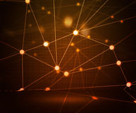 Orange Network Stage Background Royalty Free Stock Image