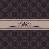 Dark ornamental background for vintage design stock photography
