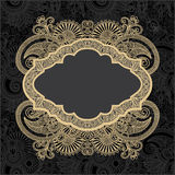 Dark ornate floral background Stock Image