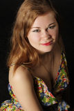 dark over portrait woman Στοκ φωτογραφία με δικαίωμα ελεύθερης χρήσης
