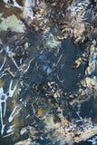 Dark painting with light splashes Royalty Free Stock Photos