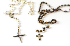 Dark and pale rosary beads Royalty Free Stock Images