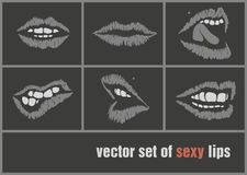 Dark paper lips Royalty Free Stock Images