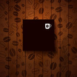 Dark paper note with place for Your text. Royalty Free Stock Photos