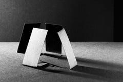 Dark paper shapes Stock Photo