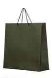 Dark paper shopping bag Stock Photos