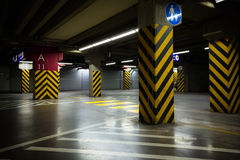 Dark parking garage Stock Photography
