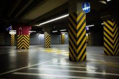 Dark parking garage stock photography