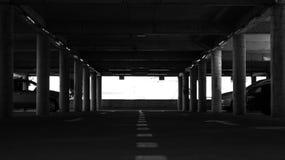 A dark parking underground Royalty Free Stock Photo