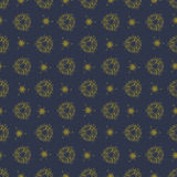 Dark pattern with gold ornaments Stock Images