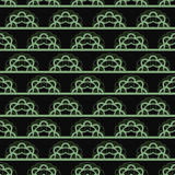 Dark  pattern with green horizontal lace Royalty Free Stock Photography