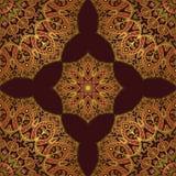 Dark pattern of mandala. Royalty Free Stock Images