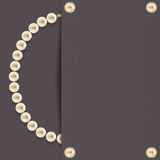 Dark with pearls Stock Images