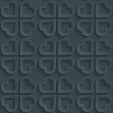 Dark perforated paper. Dark perforated paper with cut out effect. Abstract 3d seamless background. Vector EPS10 Stock Photography