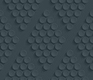 Dark perforated paper. Dark perforated paper with cut out effect. Abstract 3d seamless background. Vector EPS10 Stock Photo