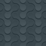 Dark perforated paper. Dark perforated paper with cut out effect. Abstract 3d seamless background. Vector EPS10 Stock Photos