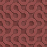 Marsala color perforated paper. Marsala color perforated paper with cut out effect. Abstract 3d seamless background. Vector EPS10 Stock Image