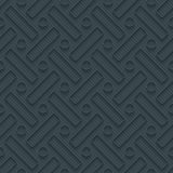 Dark perforated paper with outline extrude effect. 3d seamless wallpaper. Vector background EPS10 Stock Photo