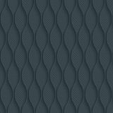 Dark perforated paper with outline extrude effect. 3d seamless wallpaper. Vector background EPS10 Stock Photography