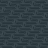 Dark perforated paper with outline extrude effect. 3d seamless wallpaper. Vector background EPS10 Royalty Free Stock Image