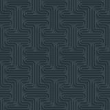 Dark perforated paper with outline extrude effect. 3d seamless wallpaper. Vector background EPS10 Stock Images