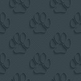 Dark perforated paper. Dark perforated paper with outline extrude effect. 3d seamless wallpaper. Vector background EPS10 Royalty Free Stock Photo