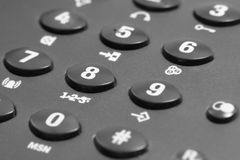 Dark phone keypad Royalty Free Stock Photo