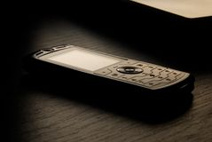 Dark photo of mobile phone royalty free stock photo