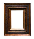 Dark  picture frame. Isolated over white Stock Photo