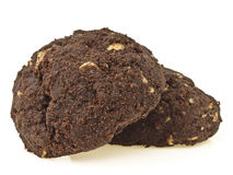 Dark pile cookies Royalty Free Stock Photography
