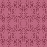 Dark Pink Abstract Filigree Seamless Pattern. An abstract filigree style pattern in dark pink colors Stock Illustration