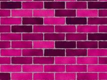 Dark Pink Bricks Stock Images