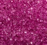 Dark pink crystals macro background Royalty Free Stock Images