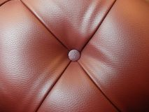 Dark Pink Leather with Single Button in the Middle Stock Photography