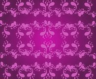 Dark pink ornaments background Stock Images