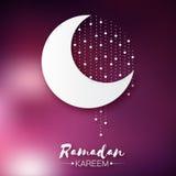 Dark pink Ramadan Kareem celebration greeting card. Royalty Free Stock Image