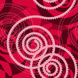 Dark pink seamless pattern with colored spirals and cur Royalty Free Stock Photography