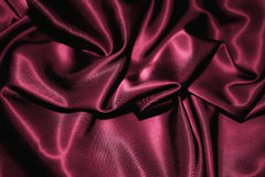 Dark pink silk Stock Photos