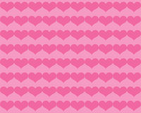 Dark Pink Valentine Hearts on Lighter Pink Background Royalty Free Stock Image