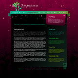 Dark pink webpage layout Stock Photo