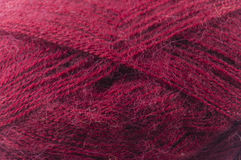 Dark pink yarn Stock Image