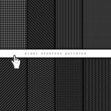 Dark pixel seamless patterns Stock Photography