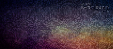 Dark pixelated mosaic background for your design Royalty Free Stock Photo