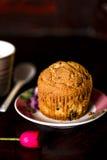 Dark plaatste voor een gluten vrije muffin Royalty-vrije Stock Fotografie