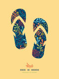 Dark plants flip flops decor pattern background Stock Photography