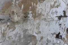 Dark plaster scratched, black, white, red spots background. Old wall with gray stucco texture. Retro vintage worn wall wallpaper. stock photos