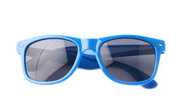 Dark plastic sunglasses isolated Stock Photography