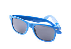 Dark plastic sunglasses isolated Stock Image