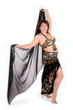Dark plump belly dance Royalty Free Stock Photography